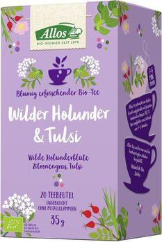 Allos Tee Wilder Holunder und Tulsi 20 Beutel