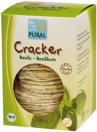 Pural Cracker mit Basilikum, glutenfrei 100g
