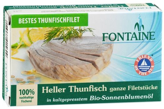 Fontaine Thunfisch hell, in Sonnenblumenöl 120g