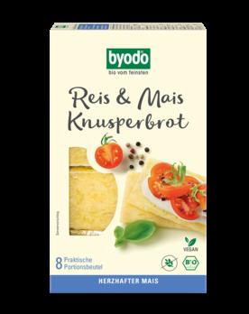 Byodo Reis und Mais Knusperbrot 8x20g