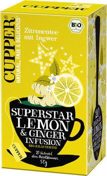 CUPPER Zitronentee mit Ingwer 50g 20 Beutel