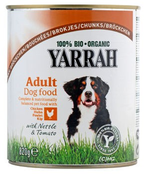 Yarrah Hundefutter Adult Dog food Chicken 820g