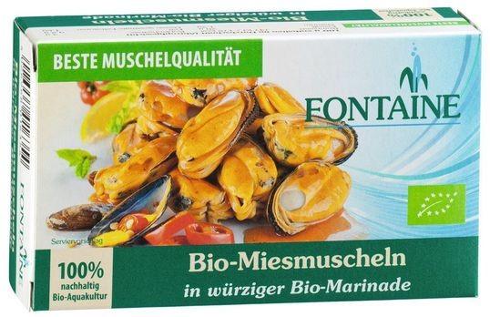 Fontaine Bio-Miesmuscheln in Bio-Marinade 125g