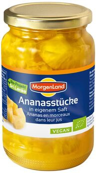 MorgenLand Ananasstücke in eigenem Saft 350g