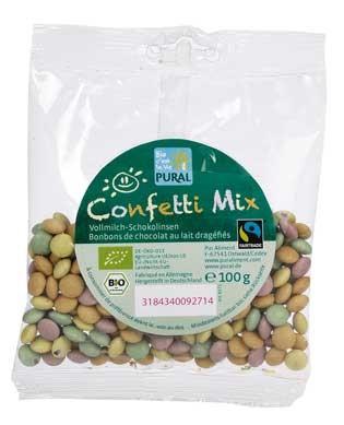 Pural Confetti Mix Mini-Schokolinsen 100g