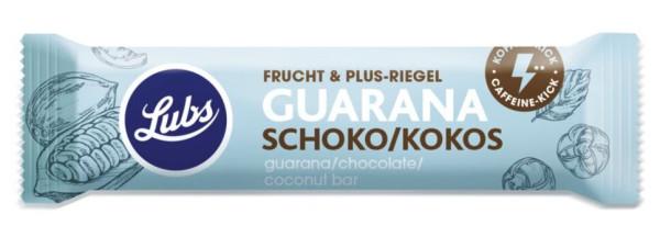 Lubs Fruchtriegel Frucht & Plus Guarana Schoko Kokos glutenfrei 40g