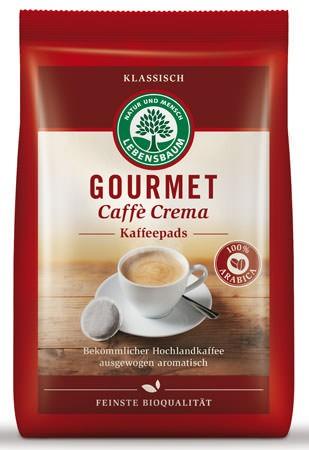 Lebensbaum Gourmet Cafè Crema, klassisch, Pads 126g