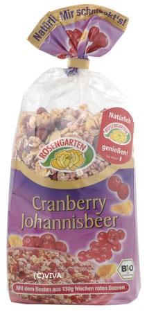 Rosengarten Cranberry Johannisbeer Müsli Premium Linie 375g