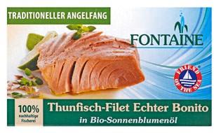 Fontaine Thunfisch-Filet Echter Bonito in Sonnenblumenöl 120g