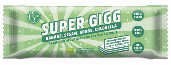 GREENIC Banane, Sesam, Kokos, Chlorella Super Gigg 23g