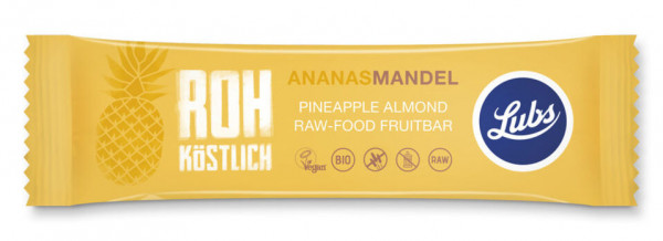 Lubs Rohkost Fruchtriegel Ananas Mandel 48g