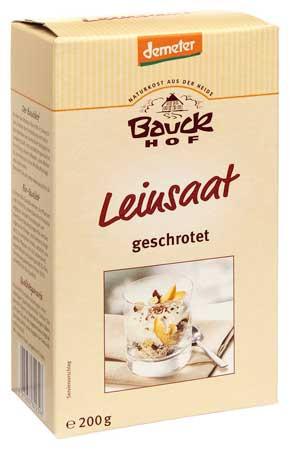 Bauckhof Leinsaat, geschrotet demeter 200g