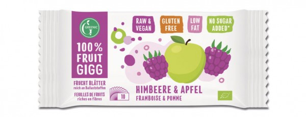 GREENIC Himbeer & Apfel 100% Fruit Gigg 10g