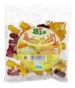 Pural Fruchtgummi Pectino Teddy ohne Gelatine 100g
