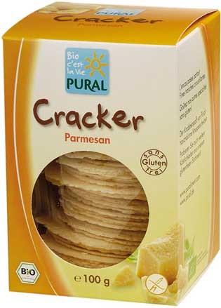 Pural Cracker mit Parmesan, glutenfrei 100g