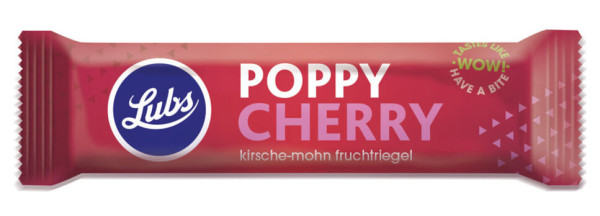 Lubs Fruchtriegel Poppy Cherry 40g