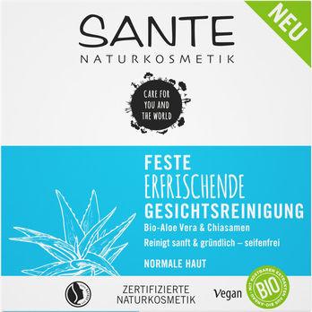 SANTE Feste Erfrischende Gesichtsreinigung Bio-Aloe Vera&Chia 60g
