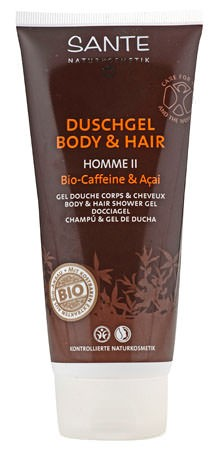 SANTE Homme 2 Duschgel Body and Hair Bio-Caffeine & Açai 200ml