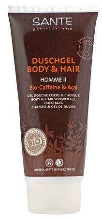 SANTE Homme 2 Duschgel Body and Hair Bio-Caffeine & Açai 200ml