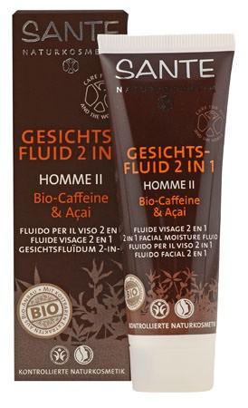 SANTE Homme 2 Gesichtsfluid 2in1 Bio-Caffeine & Açai 50ml
