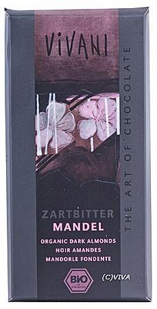 Vivani Zartbitter Mandel Schokolade 100g