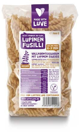 MADE WITH LUVE Lupinen Nudeln Fusilli 250g
