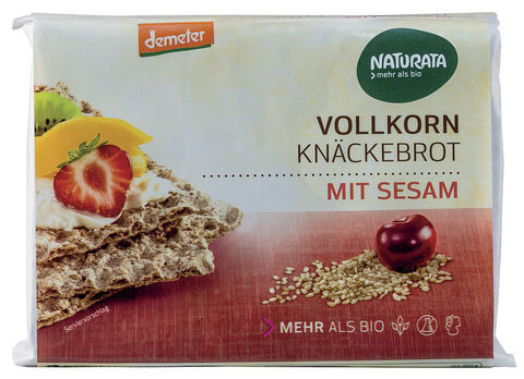 Naturata Sesam-Vollkorn-Knäckebrot, demeter 250g