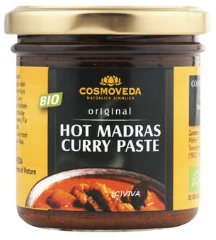 Cosmoveda Hot Madras Curry Paste 160g