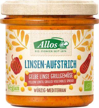 Allos Linsen-Aufstrich Gelbe Linse Grillgemüse 140g
