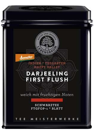 Lebensbaum Darjeeling First Flush demeter Dose 75g
