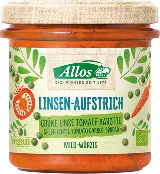 Allos Linsenaufstrich Grüne Linse Tomate Karotte 140g