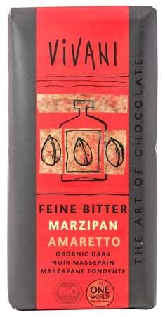 Vivani Feine Bitter Marzipan Amaretto Schokolade 100g