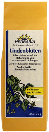 Herbaria Lindenblüten-Tee, ganze Blüte 75g