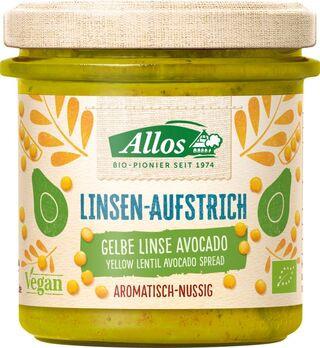 Allos Linsen-Aufstrich Gelbe Linse Avocado 140g