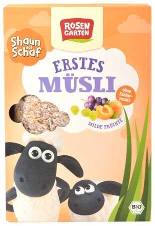 Rosengarten Shaun das Schaf Mildes Früchte Müsli 375g
