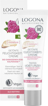 LOGONA MOISTURE LIFT Getönte Feuchtigkeitscreme Bio-Damaszener Rose 30ml