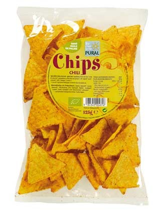 Pural Maischips Chili 125g