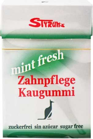 Styrums Mint Fresh Zahnpflege Kaugummi 29g