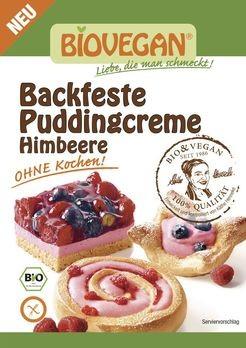 Biovegan backfeste Puddingcreme Himbeere 52g