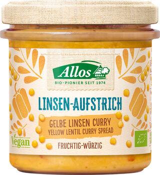 Allos Linsenaufstrich Gelbe Linsen Curry 140g