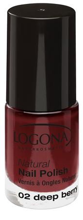 LOGONA Natural Nails Polish no. 02 deep berry 4ml