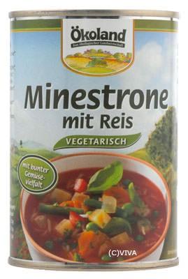 ökoland Minestrone mit Reis, vegetarisch 400ml
