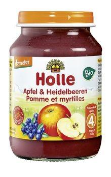 Holle Apfel mit Heidelbeeren 190g