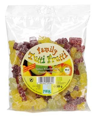 Pural Fruchtgummi Tutti Frutti Family ohne Gelatine 300g