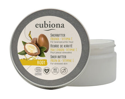 Eubiona Sheabutter mit Arganöl & Vitamin E Körperpflege 100ml