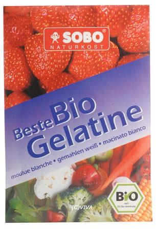 Sobo Bio Gelatine, gemahlen, weiß, 9g