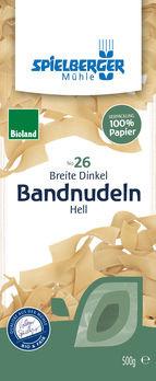 Spielberger Breite Dinkel-Bandnudeln 18mm, hell Bioland 500g