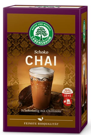 Lebensbaum Schoko Chai Tee 20 Beutel