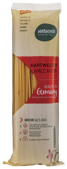 Naturata Hartweizen Maccaroni, hell, lang, demeter 500g