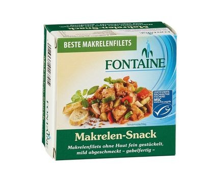 Fontaine Makrelen Snack mit Gurke & Paprika 125g